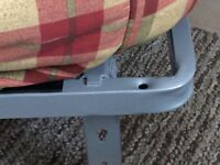 Sofa/Bed easy pull out and fold away action to give that instant bed.
