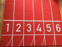Ikea red floor rug