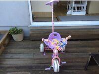 Disney princess push along trike/bike