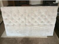 Next Paris double bed headboard in Mink