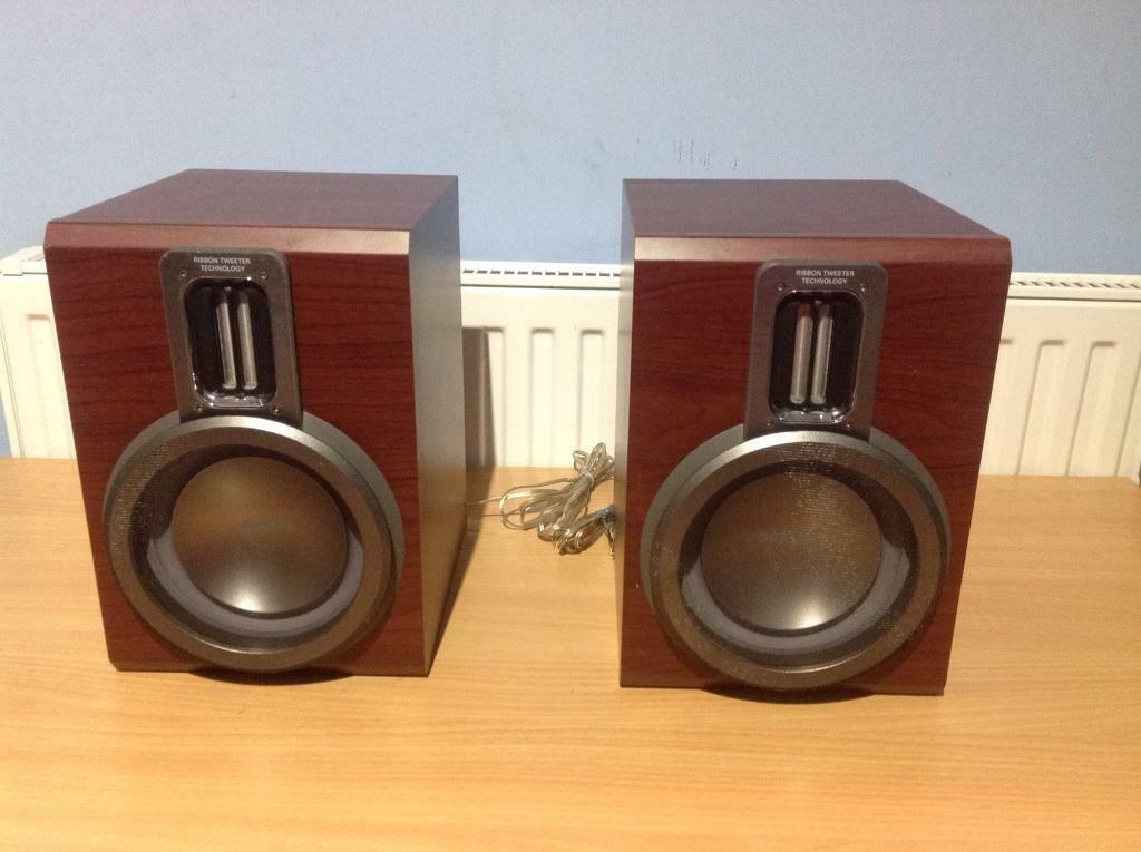 PHILIPS BOOKSHELF LOUDSPEAKERS FWB MCM760 150WATT 6 OHM
