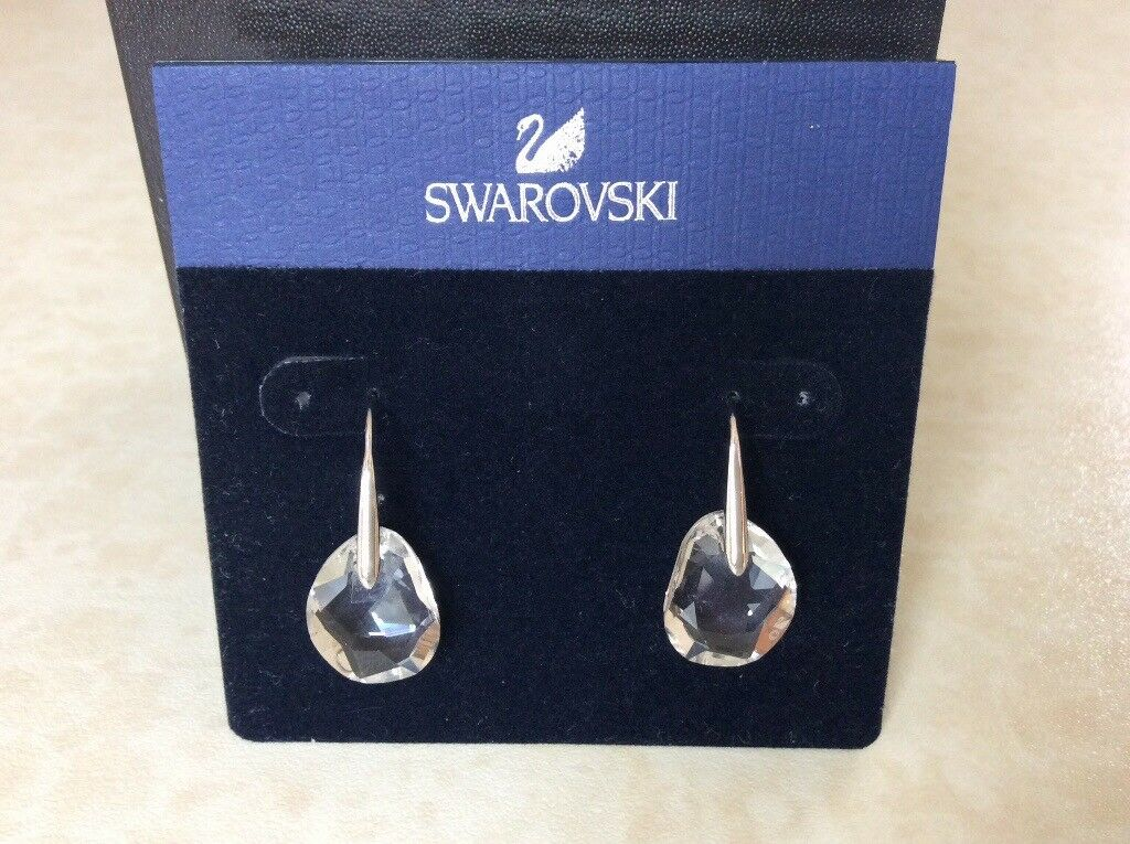 Swarovski Clear Galet Drop Earrings