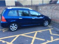 2006 Peugeot 307 estate 7 seater 1.6cc HDI diesel manual long mot spares or repairs drive away
