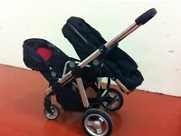 icandy apple to pear double buggy with pip convertor, very good condition and clean pushchair
