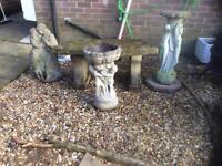 4 stone garden ornaments