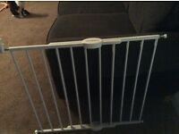 2 baby gates- wall hung, all brackets included.Excellent condition