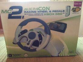 XBOX 360 MicroCon Racing Wheel & Pedals
