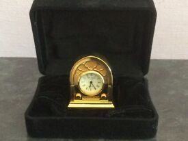 Miniature Brass Clock by Widdop and Bingham