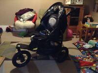 Mamas and Papas black stroller/ buggy