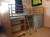 Cabin bed with desk