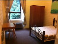 Double bedroom in flat shared by girls near Byres Road