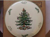 Spode Christmas cake plate.