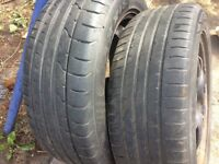 """16"""" Vauxhall steel wheels with tyres X2"""