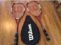 Wilson Tour 138 Squash Rackets (Priced as a Pair)