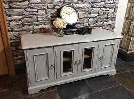 Thisitem now SOLD. TV cabinet solid pine Hand painted shabby chic