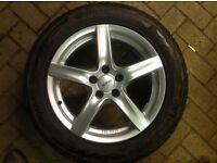 "17"" Audi alloys with winter tyres.5x112 . 7.5x17"