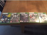 X Box 360 5 Games for £10