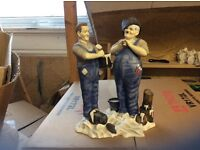 Laurel and Hardy figures