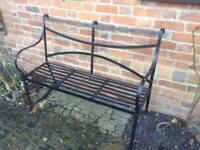 Metal bench seat