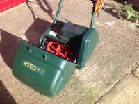"""electric cylinder mower, Atco Windsor 14S, 14"""" cutter. serviced and sharpened recently."""