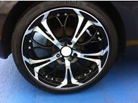 "Nearly New Ghost 17"" Alloy Wheels x 4 with Excellent Tyres"