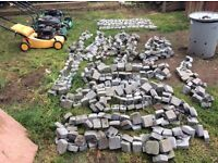 "B&Q carpet stones / cobbles .(19) x approx 4FT x 7-8"" (charcoal)"