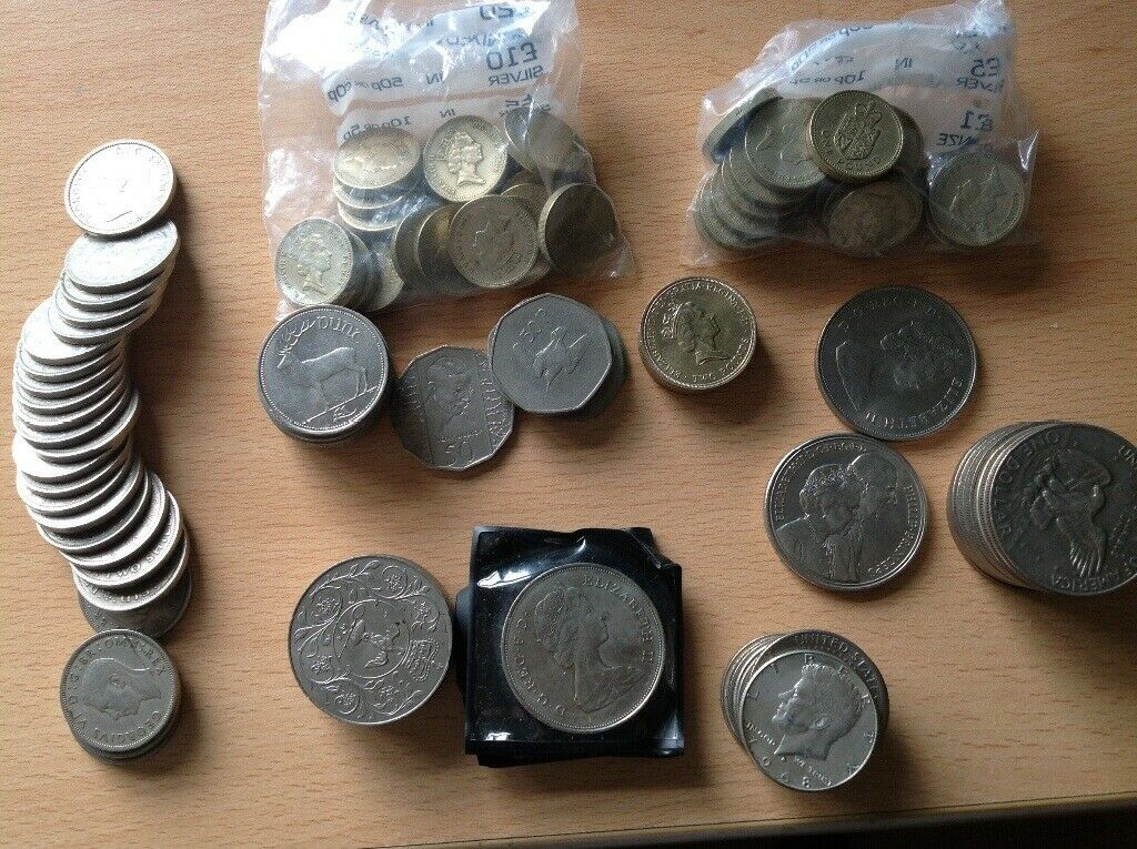 08f1317b0e A collection off coins Dollars and half Dollars and more