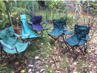 Folding garden/picnic chairs