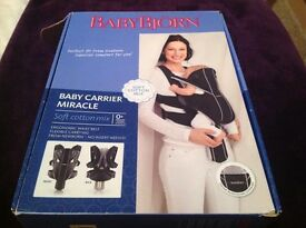 BabyBjorn Miracle Baby Carrier BLACK/ Grey