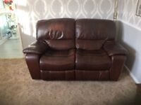 2 Reclining Real leather Sofas