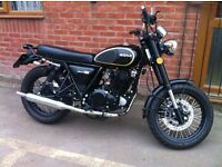 Nearly New Herald Classic 250cc Black roadster just 1200 miles in as new condition .
