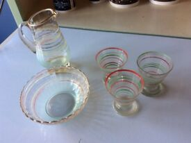 Various Vintage Glass items