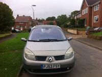 Renault MEGANE SCENIC , MOT till August 2018 and low mileage 25K