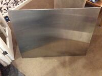 Stainless steel oven splashback