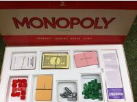 **** 1972 Monopoly Vintage Board Game Stock Nos 402 **** £15