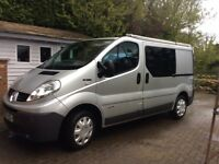 RENAULT TRAFIC used as camper, full year MOT, aircon, twin sliding side doors, ready to go