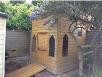 Large BESPOKE two storey WOODEN playhouse/castle (gt con)+ LOADS of quality kitchen & role play toys