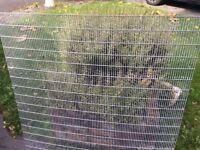 Heavy metal grid or fence