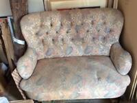 Retro vintage fabric sofa