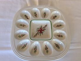 Spanish pottery serving dish for eggs