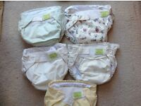 5x Kushies washable nappies