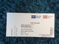 Gary Barlow @ Hull City Hall Tuesday 24th April (1 ticket)