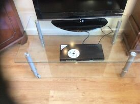 Contemporary Glass TV or Coffee Table