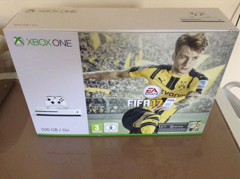 xbox one s fifa 17 bundle new and sealed today only 245. Black Bedroom Furniture Sets. Home Design Ideas