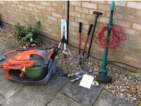 Selection of garden tools for sale