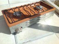 Camping stove , two ring burners good cccondition