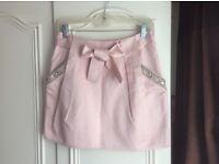 Light pink pleated skirt