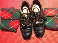 highland shoes and dress tartan socks