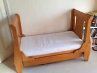 Tutti Bambini sleigh style cot bed