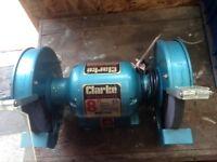 Clarke 8inch bench grinder( hardly used)